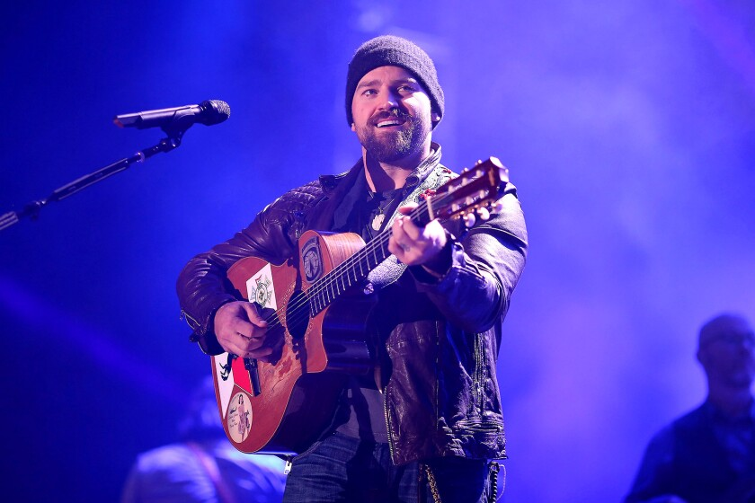 A photo of Zac Brown Band at DirecTV Super Fan Festival in 2015