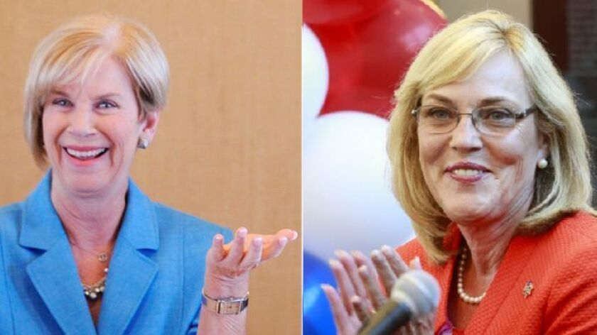 L.A. County Supervisors Janice Hahn and Kathryn Barger