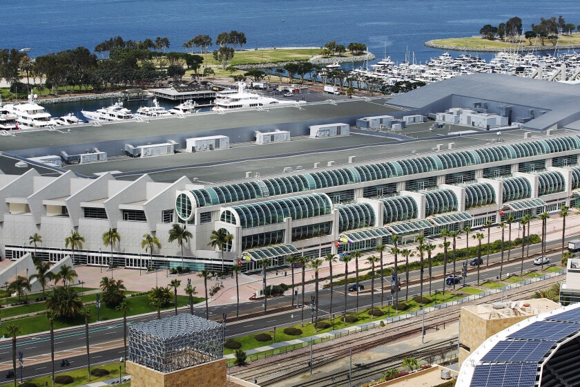 An initiative that aims to raise San Diego's hotel tax to underwrite the expansion of the San Diego's Convention Center is being challenged in court.