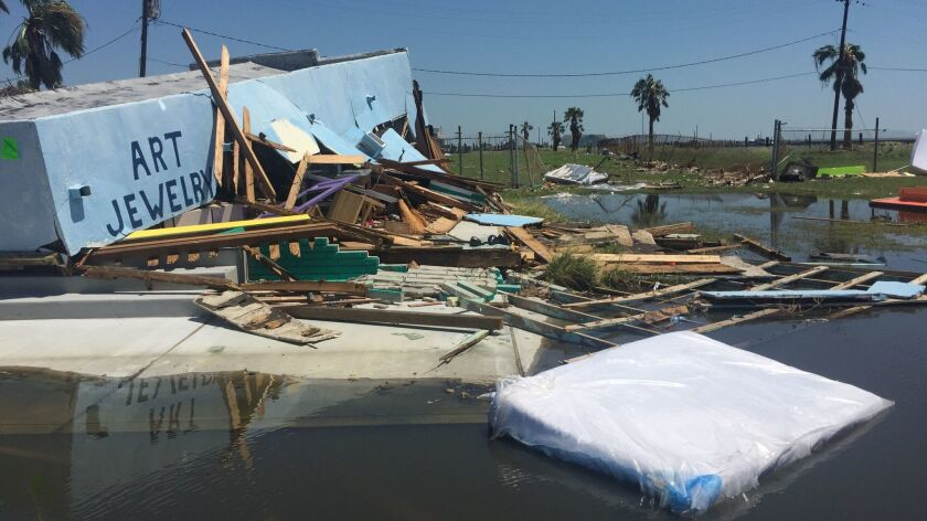 A jewelry store was destroyed by Hurricane Harvey.