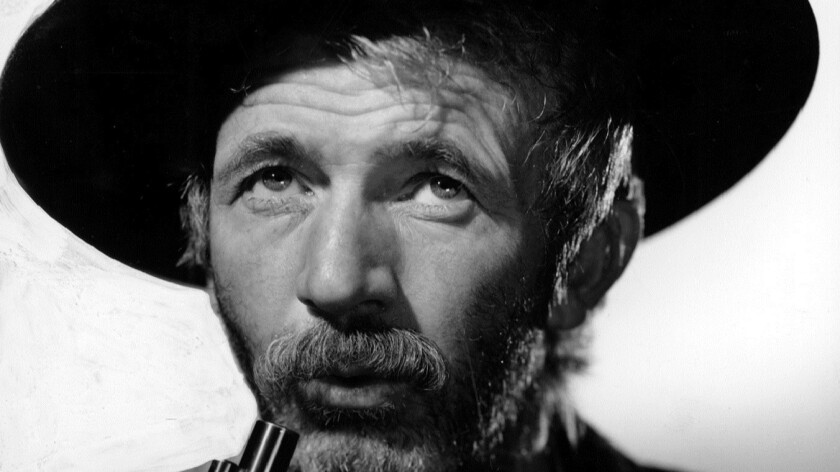 "Walter Brennan in ""The Westerner."""