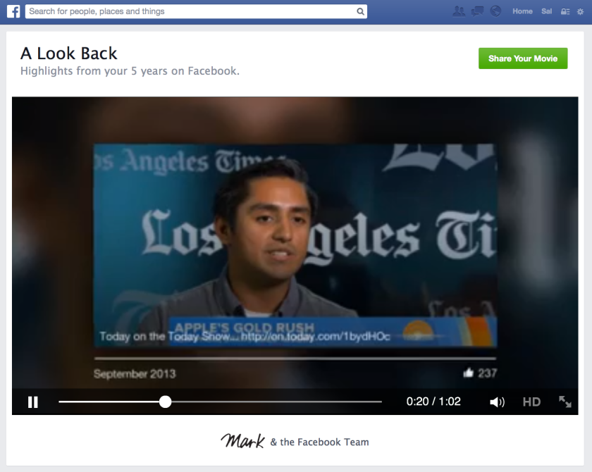 Facebook's Look Back video feature has been a hit with the company's users.