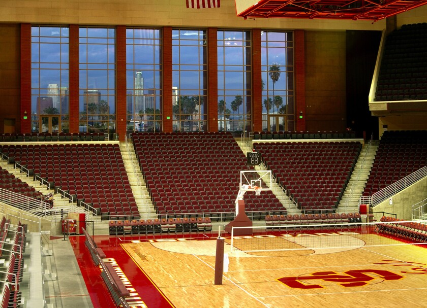 The USC women's basketball team plays home games at the Galen Center.