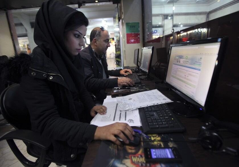 With the advent of massive open online courses, students in every country with Internet service will have access to the best scholars and cutting-edge knowledge in their discipline. Above: Iranians surf the web in an Internet cafe in Tehran, Iran.