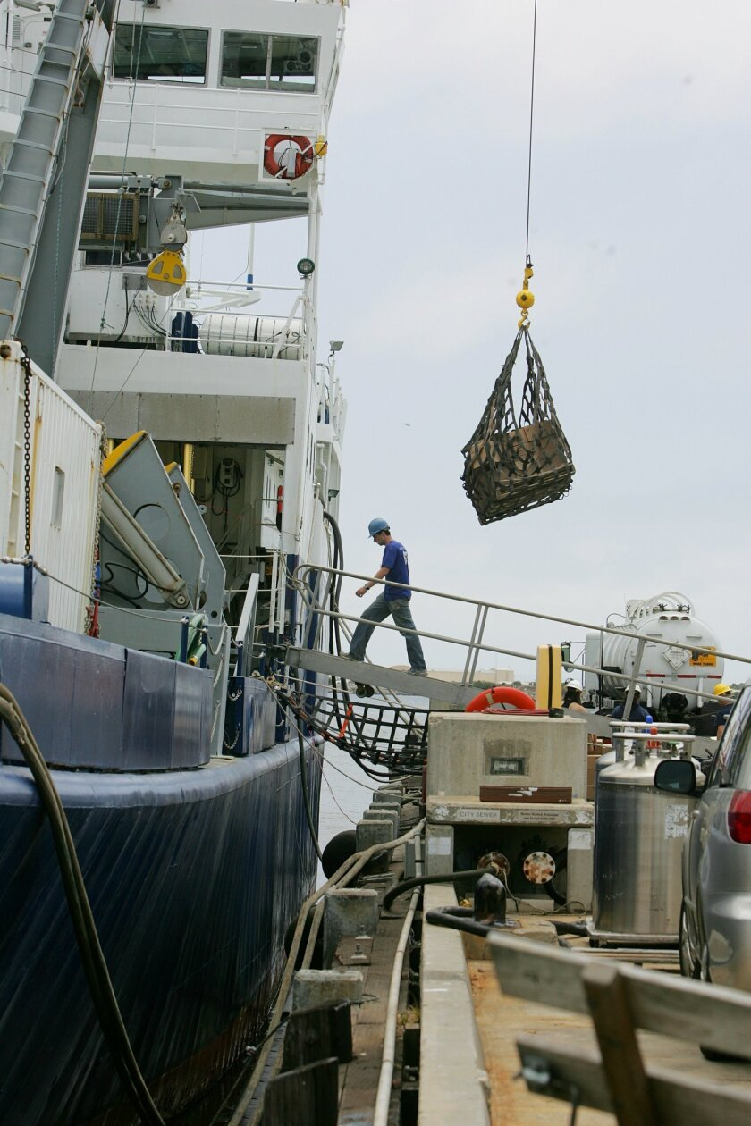 Researchers at Scripps Institution of Oceanography prepared for a voyage into the California Current last week in San Diego. Scientists at the La Jolla campus has been collecting data about the marine ecosystem for decades as they try to understand both subtle and extreme changes.