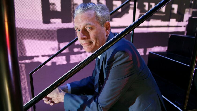 LOS ANGELES, CA., MARCH 30, 2017--Michael Ritchie, artistic director of Center Theatre Group, talks