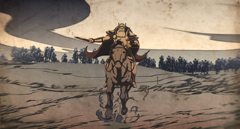 Review: Persian mythology comes alive in ambitiously animated 'The Last Fiction'