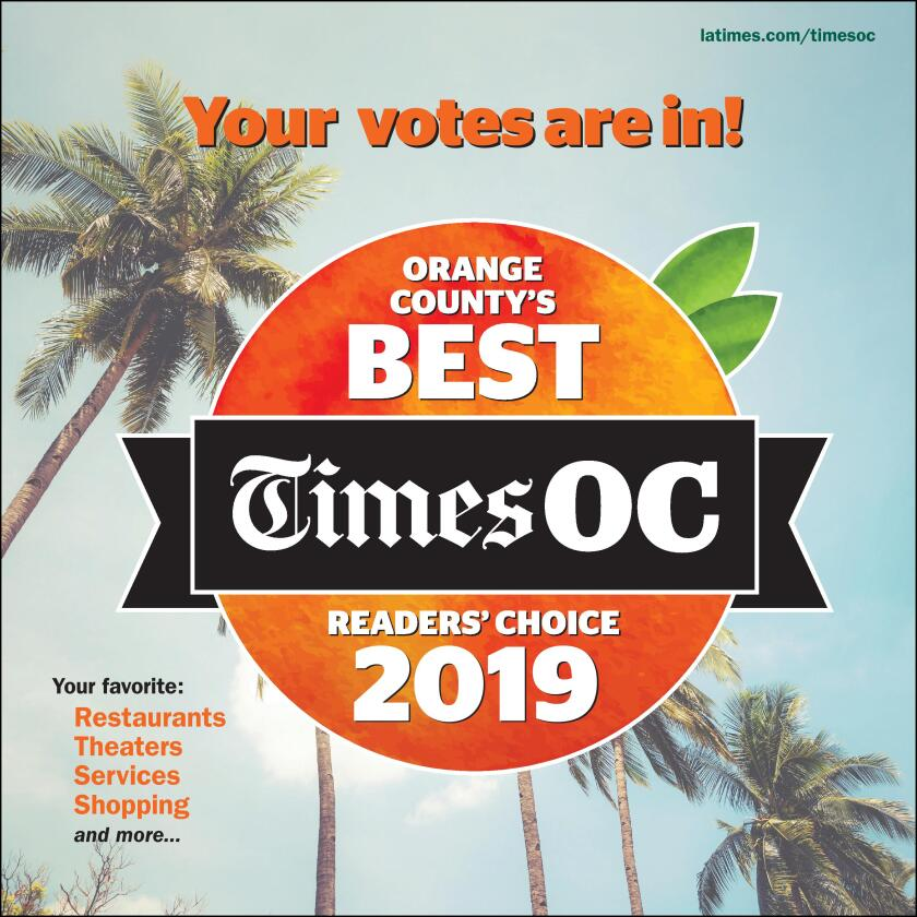 TimesOC readers voted in 85 categories to determine their favorite Orange County spots this year.