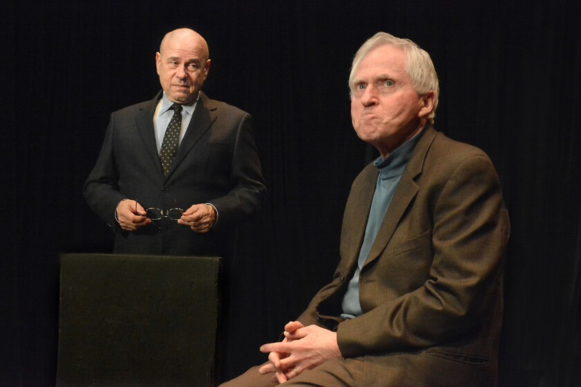 "Bruce Katzman, left, and Matt Chait costar in Chait's ""A Misunderstanding"" at the Ruby Theatre at the Complex in Hollywood."
