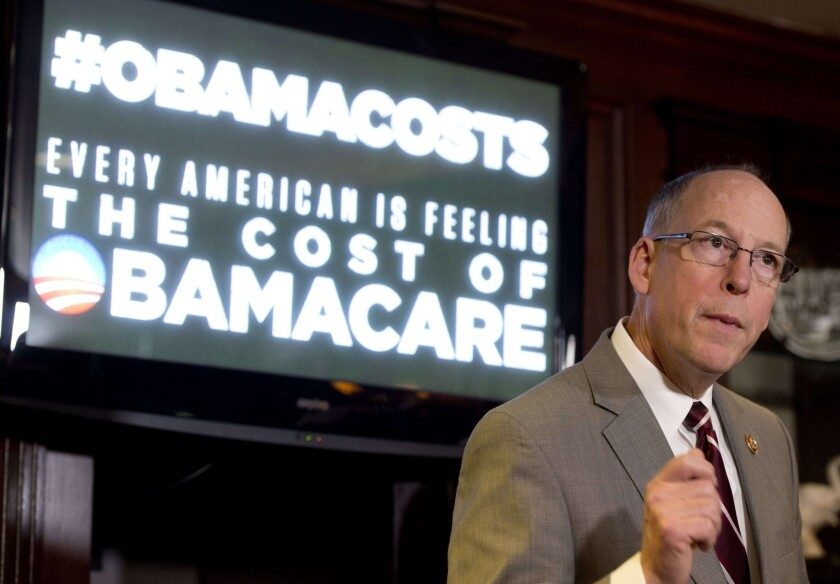 Rep. Greg Walden (R-Ore.), chairman of the National Republican Congressional Committee, speaks during a news conference about healthcare and the Affordable Care Act, better known as Obamacare, in January.
