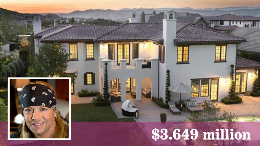 Bret Michaels has listed his Calabasas crib for $3.649 million.