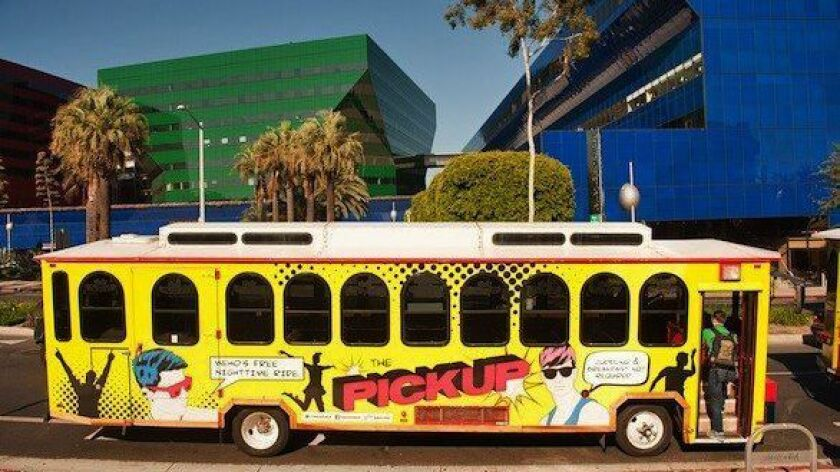 NEED 08/18: Hop on the PickUp trolley in West Hollywood, which covers a four-mile stretch of Santa M