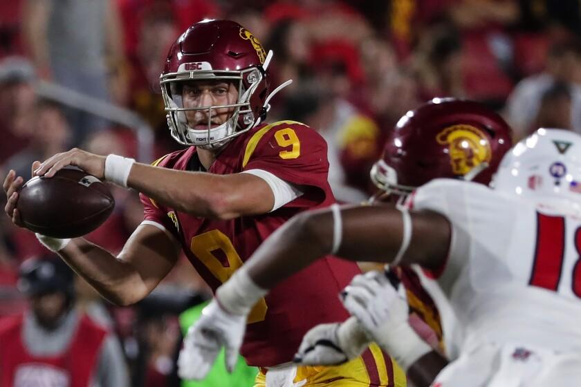 USC quarterback Kedon Slovis