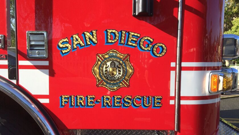 San Diego fire truck door San Diego Fire Rescue-Department