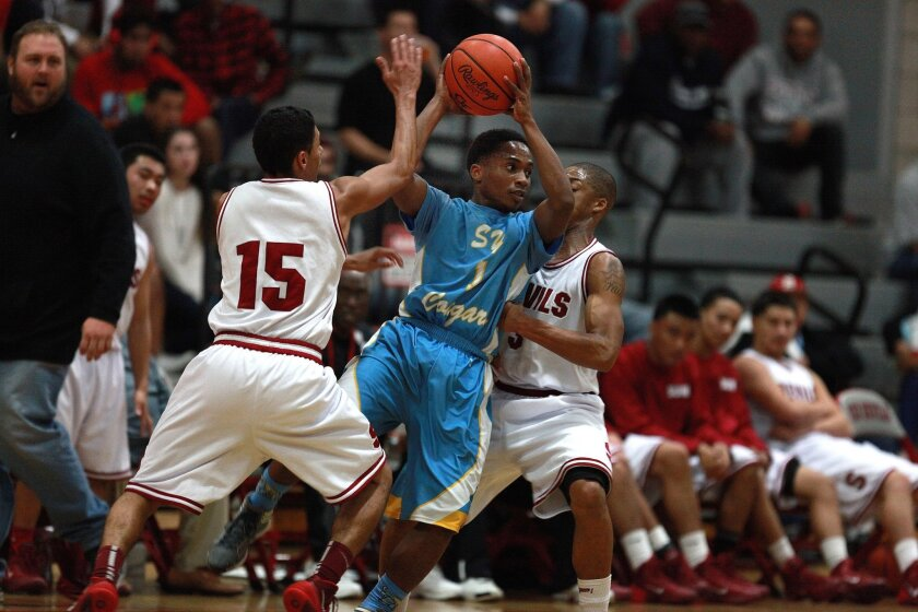 San Ysidro's Lynard Steward scored 50 points for the Cougars in a game last week against La Costa Canyon.