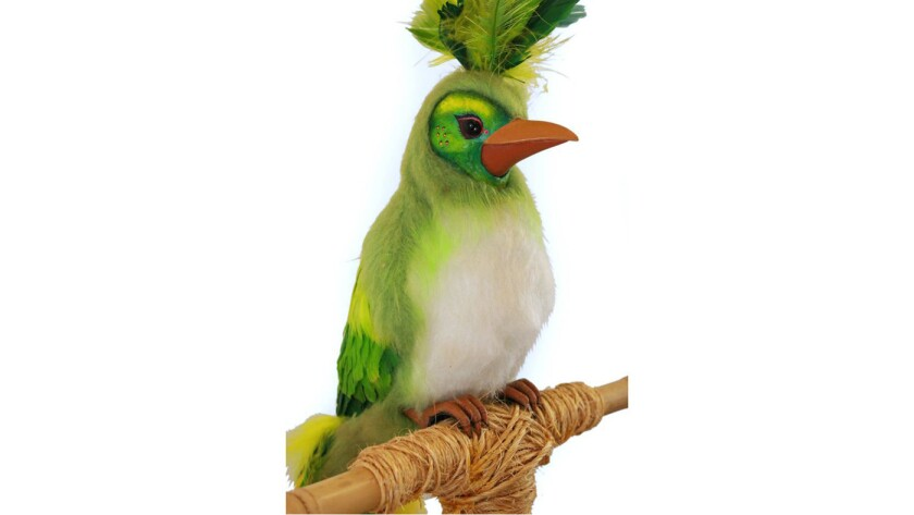 A 1970s-era animatronic bird from Disneyland's Enchanted Tiki Room sold for $153,400 at a Sherman Oaks auction.