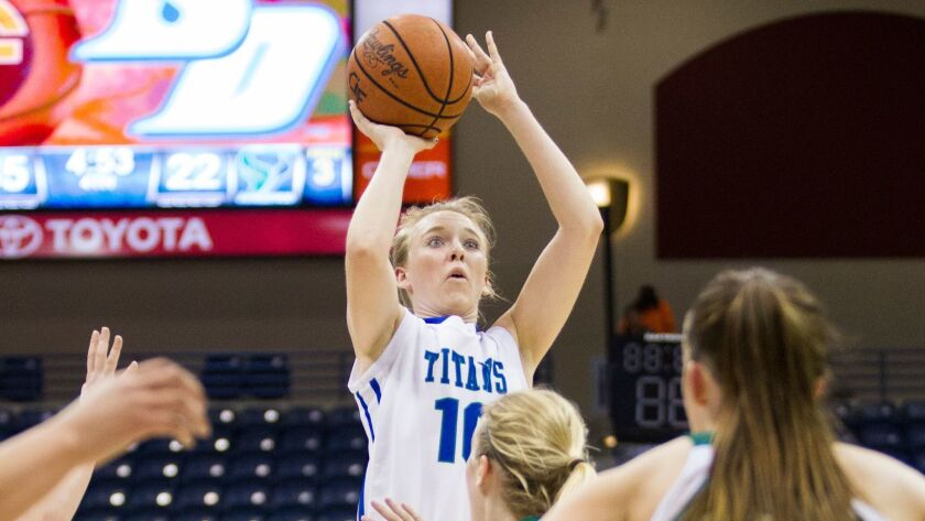 Eastlake'€™s Olivia Klugg helped guide the Titans to the WNBA Division championship of the SoCal Holiday Prep Classic.