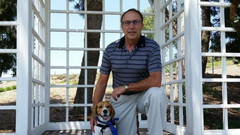 One of last year's Grossmont Healthcare District Healthcare Hero award winners: Shiloh the trained therapy beagle and her owner, Michael Colombo.