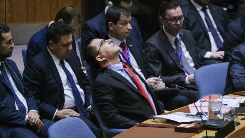 U.S., Russia clash at United Nations over crisis in Venezuela and who is legitimate president