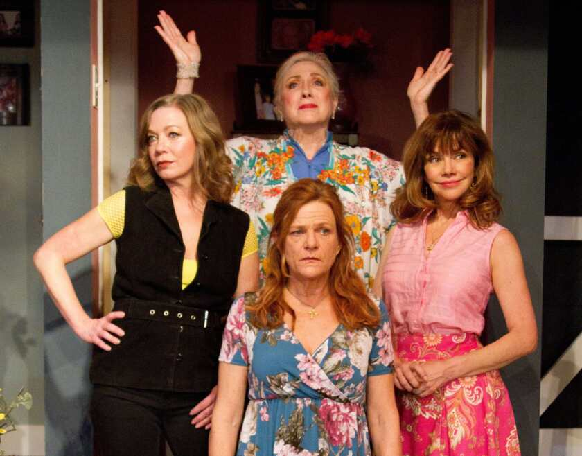 "Cast members of Del Shores' ""This Side of Crazy"" at the Zephyr, clockwise from left: Rachel Sorsa, Sharon Garrison, Bobbie Eakes and Dale Dickey."