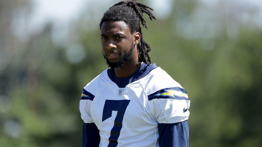 Chargers rookie wide receiver Mike Williams missed all of training camp because of a herniated disk in his lower back.