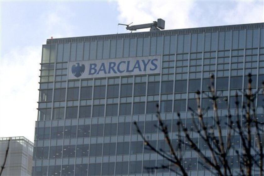 The London headquarters of Barclays Bank PLC is seen in London, Wednesday Jan. 14, 2009. Barclays PLC said Wednesday it plans to cut up to 2,100 jobs in its retail and commercial banking units, adding to redundancies of the same size in its investment banking arms announced Tuesday. (AP Photo/Tom H