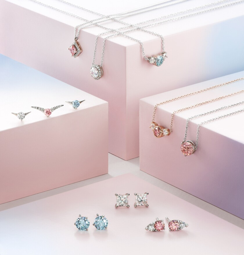 Lab-made diamonds will be on show at a Century City pop-up to coincide with Valentine's Day. Lightbo
