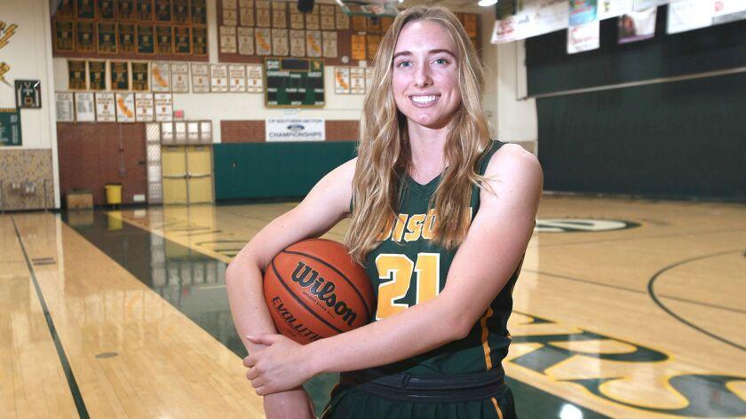Daily Pilot Girls' Basketball Player of the Year, Edison High School's Finely Garnett.