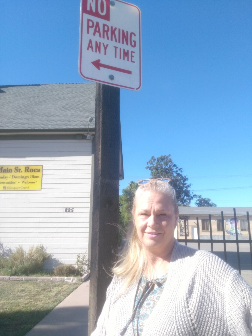 Copy - Michelle Bisher By No Parking Sign.jpg