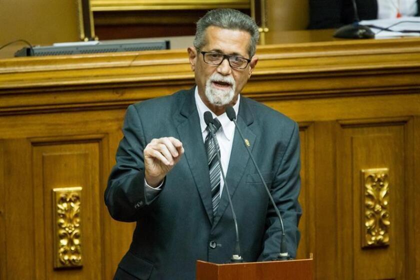 Opposition lawmaker America de Grazia speaks at at Venezuela's National Assembly (unicameral legislatura). EPA-EFE/File