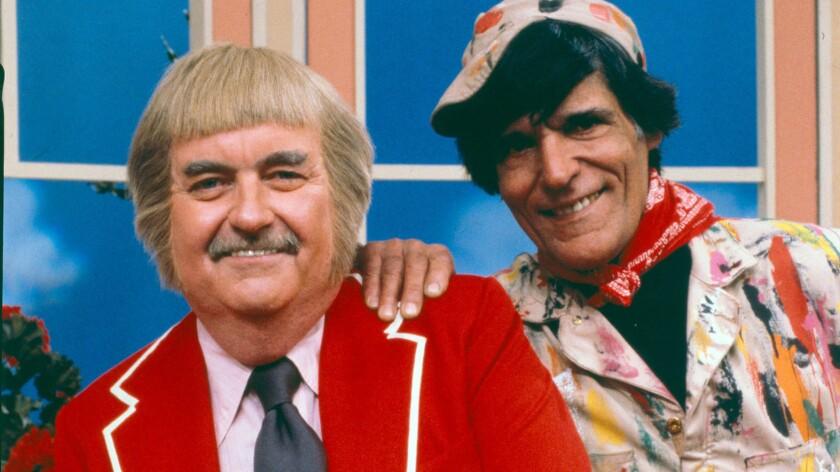 Captain Kangaroo (Bob Keeshan) and Dennis the Painter (Cosmo Allegretti) in 1979.