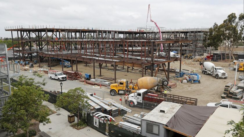 Construction continues this week on the new math and science building and STEM center at Golden West College in Huntington Beach.