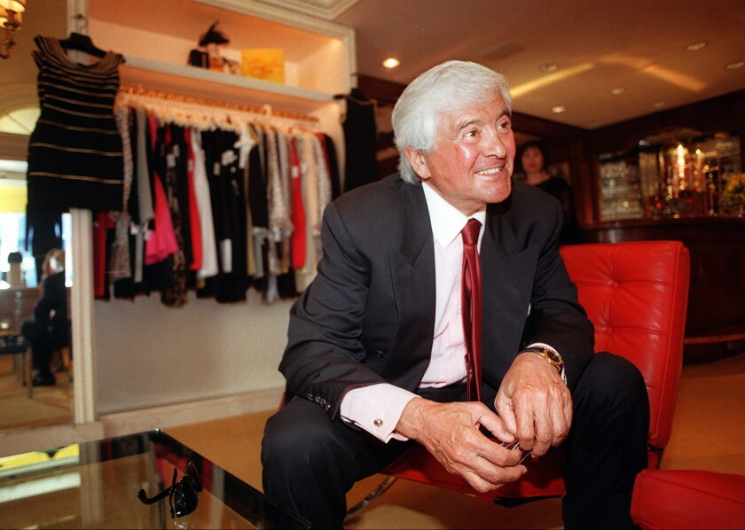 Fred Hayman, shown in 1997, was a founder of the Rodeo Drive Committee that courted many of the luxury European retailers whose boutiques now line the street in Beverly Hills.