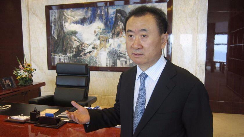 Wang Jianlin inside his Beijing office in 2012.
