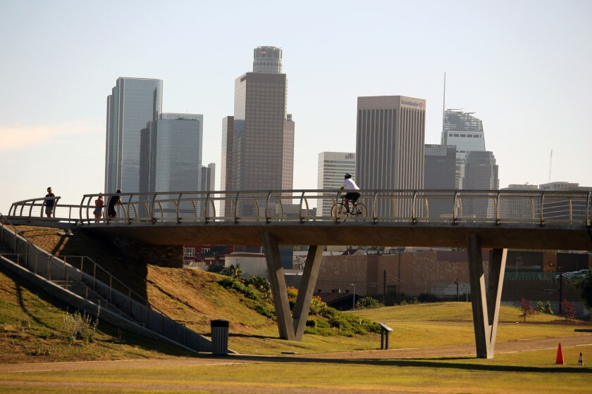 A walk in Los Angeles State Historic Park
