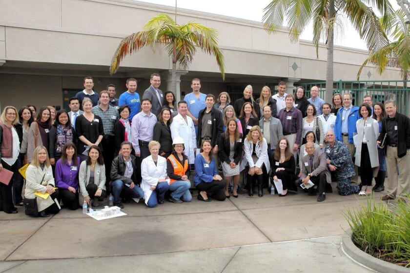 Many volunteer speakers joined the career day committee to make it a success