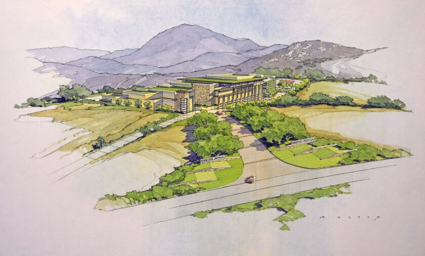 Artist rendering of the latest Jamul Indian casino proposal.