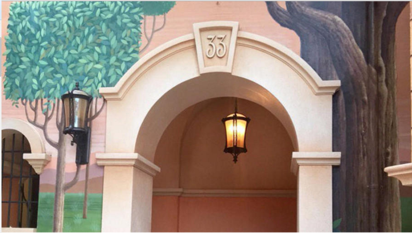An entrance to the exclusive Club 33 at Shanghai Disney.