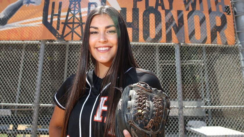 The Daily Pilot, female athlete of the week, is Huntington Beach High sophomore pitcher Grace Uribe,