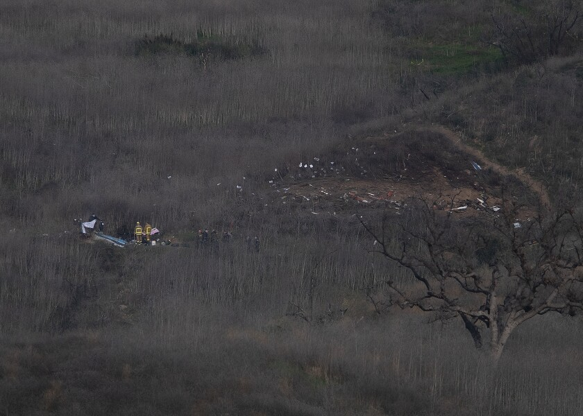 Site of deadly helicopter crash in Calabasas