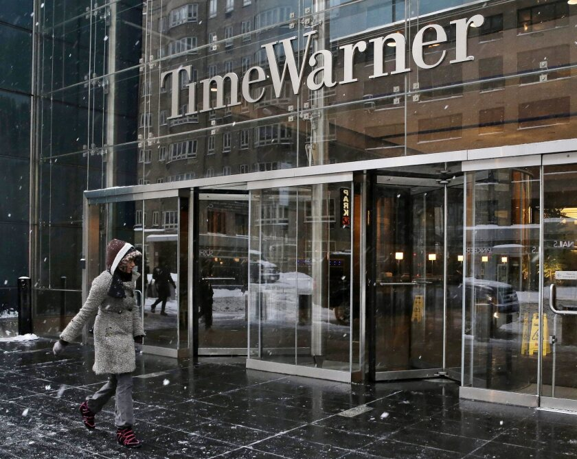 Entrance to Time Warner Center in New York, headquarters of Time Warner