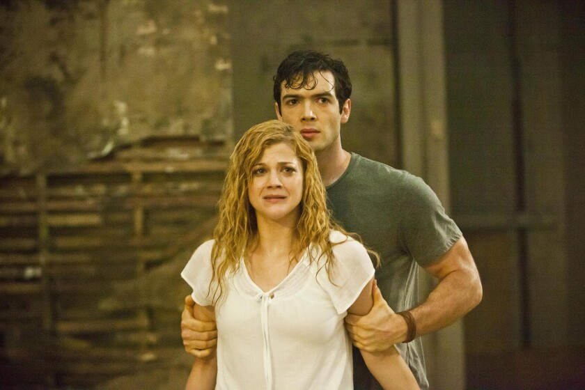"""Rebekah Brandes and Ethan Peck in the movie """"Nothing Left to Fear,"""" directed by Anthony Leonardi."""