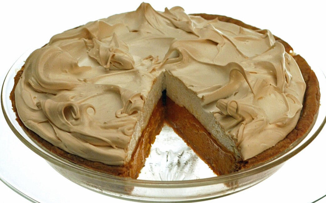 'Pumpkin' custard meringue pie