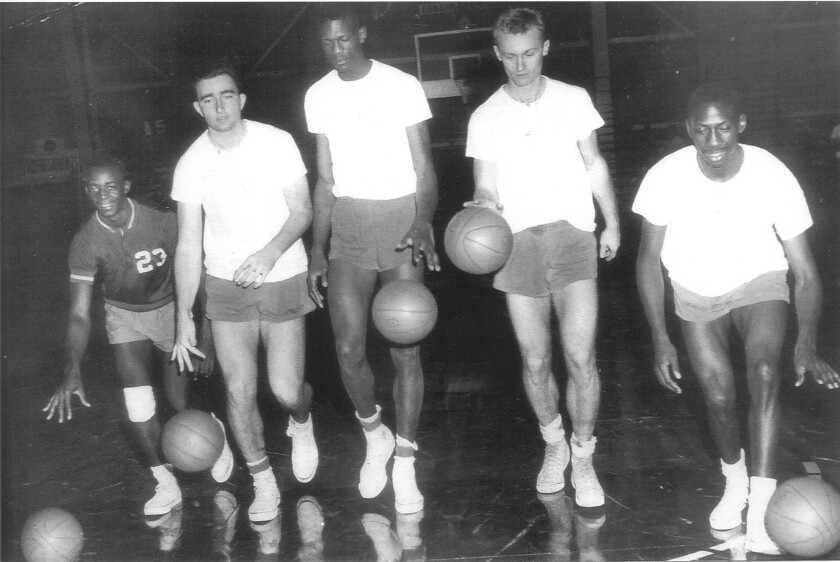 Carl Boldt, second from right