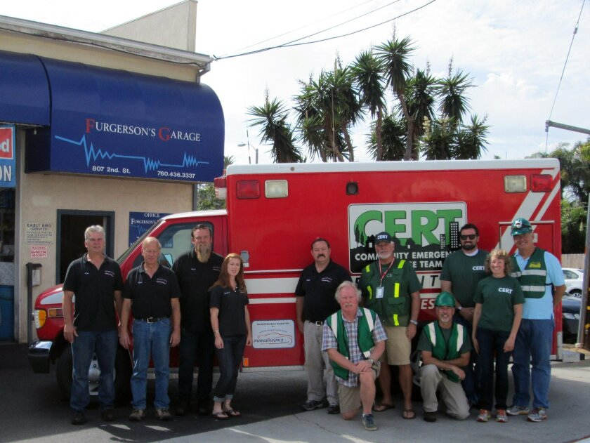 """""""All of us at Furgerson's Garage appreciate the importance of the CERT program in Encinitas,"""" said Brad Dow, owner of Furgerson's Garage."""