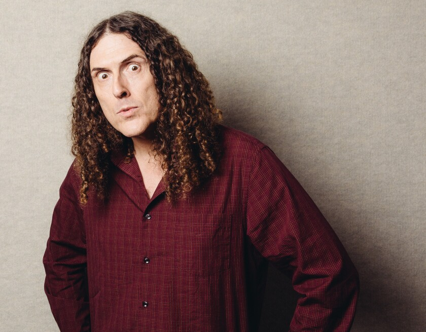 """""""Weird Al"""" Yankovic poses for a portrait in Los Angeles. A fan has started a petition for Yankovic to headline the Super Bowl XLIX halftime show."""