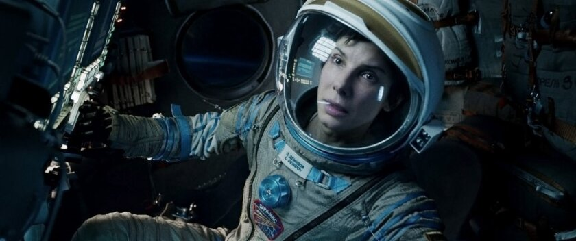 """Sandra Bullock stars in """"Gravity,"""" one of 10 movies nominated for best feature film in this year's Producers Guild Awards."""