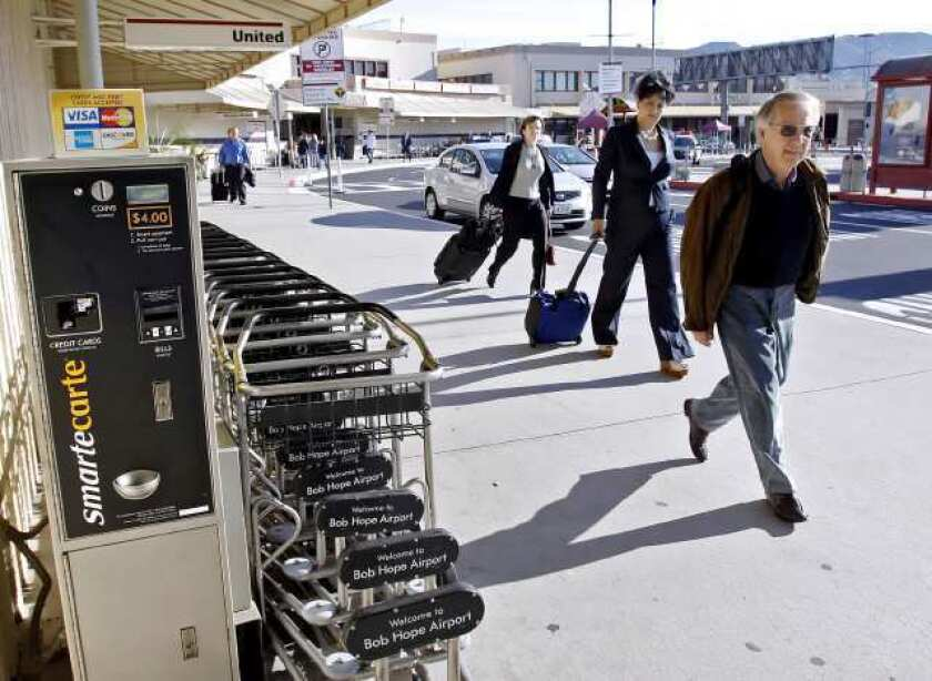 Passenger numbers fall at Bob Hope Airport