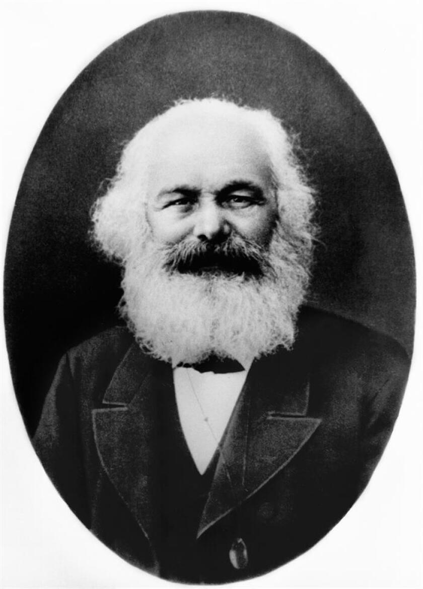 """Una carta """"extraordinariamente rara"""" escrita por el filósofo alemán Karl Marx y fechada el 1 de octubre de 1879 se vendió hoy por más de 53.000 dólares en una subasta en Boston (Massachussets). EFE/ARCHIVO/Itar-Tass/rsa"""