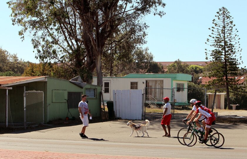 The deserted trailer park in the 300 block of South Highway 101 in Solana Beach was purchased this month by a developer.